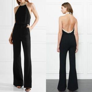 a78918837bd8 rachel zoe Pants - Rachel Zoe Elinor Pearl-Detail Halter Jumpsuit NEW